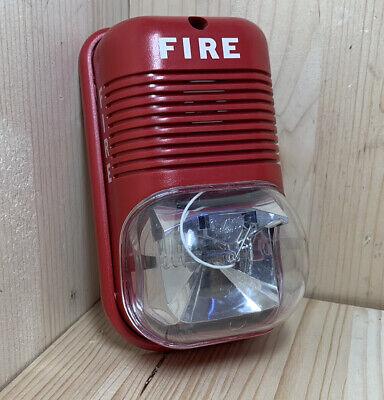 Rare System Sensor Spectralert P241575 Fire Alarm Horn Strobe Small Footprint