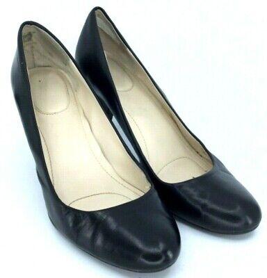 Calvin Klein Bryanna Pump Womens 8.5M Black Leather Almond Toe Slip On Heel Shoe