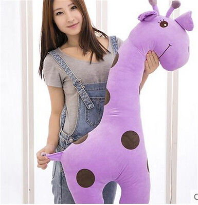 Huge Giraffe Stuffed Animal (40'' Huge Cartoon Giraffe Throw Pillow Pet Plush Soft Toys Stuffed Animal)