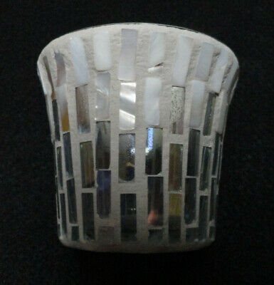 Yankee Candle Mosaic Mother of Pearl Glass Votive Candle Holder