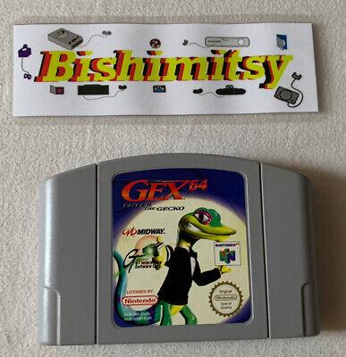Gex 64 Enter The Gecko - N64 Game Cart - Rare