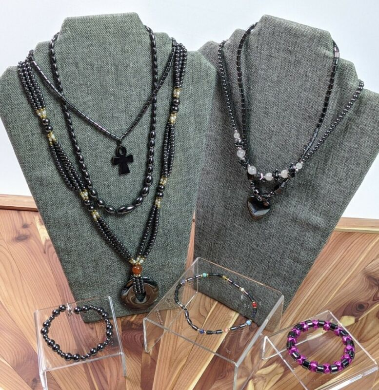 HEMATITE Jewelry Lot Mix Necklace Bracelet Anklet Wear Resell Repurpose