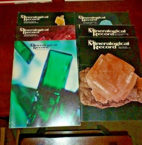 THE MINERALOGICAL RECORD - Entire 1978 year - Vol 9 ~ #1 - 6