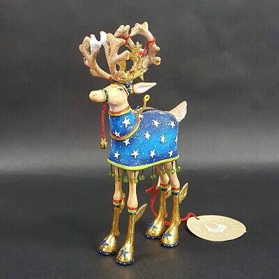 Patience Brewster Dashaway Comet Krinkles Reindeer Christmas Ornament New 6.75
