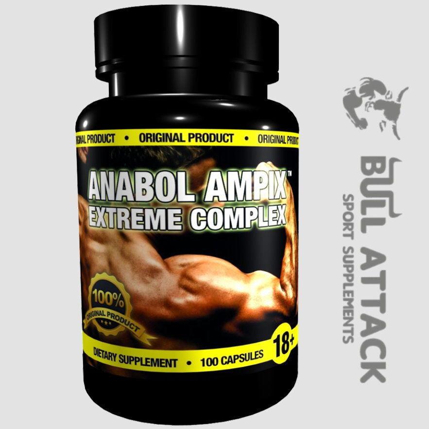 ANABOL AMPIX - 100 Capsules - ARGININE, CREATINE, TAURINE, BETA ALANINE Anabolic