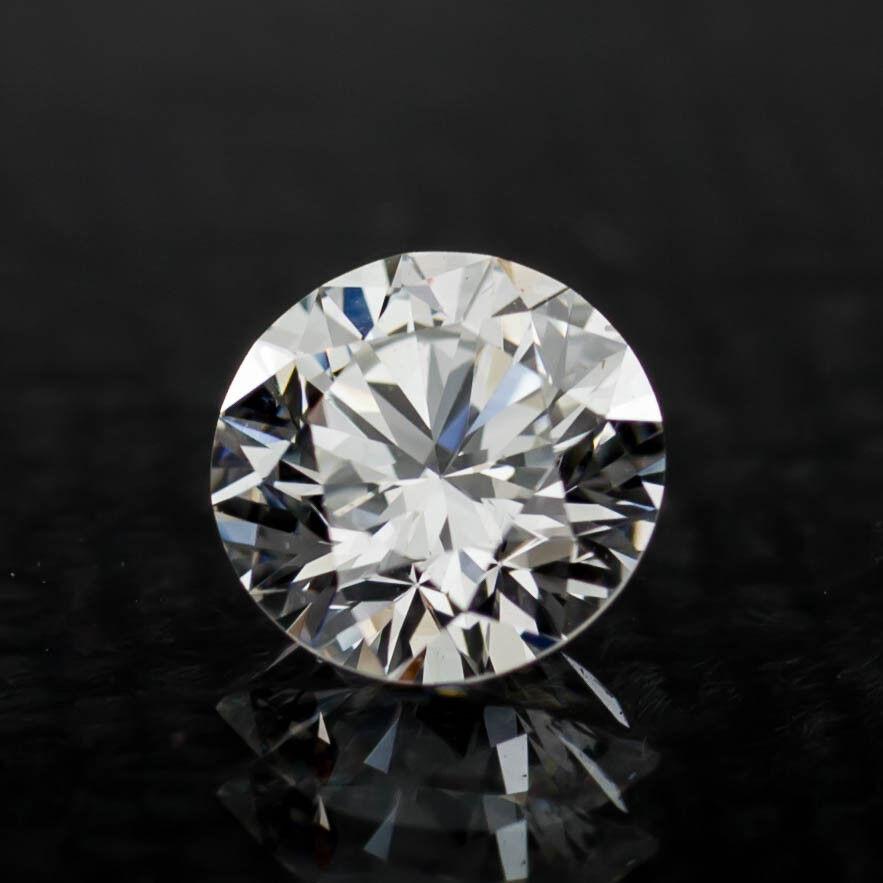 0.71 Carat Loose F / VS2 Round Brilliant Cut Diamond GIA Certified