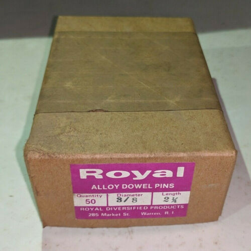"""Pack of 50 - 3/8"""" x 2-1/4"""" Royal Dowel Pins Alloy Steel"""