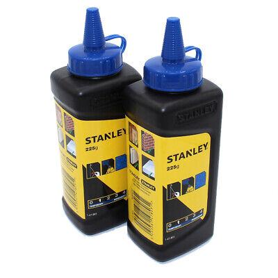 Twin Pack Stanley Blue Chalk Refill 450g 16oz Chalk Reel Line Masonry Powder