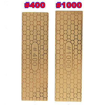 400#/1000# Diamond Plate Ti Titanize Knife Sharpening Stone Whetstone Polishing