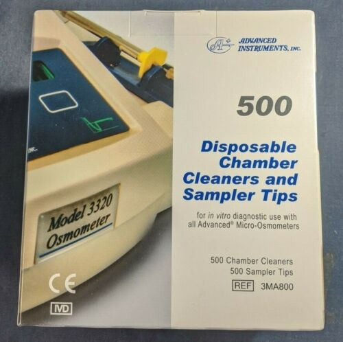 Advanced Instruments Osmometer Sampler Tips (tubes) & Cleaners Kit 3MA800 133800