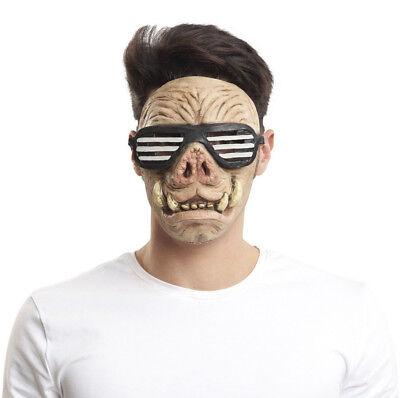 Latex Gesicht Biker Wildschwein Maske Kostüm Schwein Punk Neuheit Spaß Tier ()