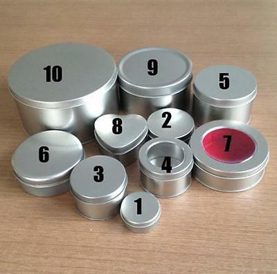 1 PC Metal Silver Small Tin Box Storage Jewelry Candy Round Container with Lid - Small Containers With Lids