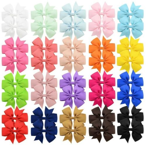 """40 Pcs in Pairs 3"""" Boutique Hair Bows Clips Accessories For Girls Toddlers Kids"""