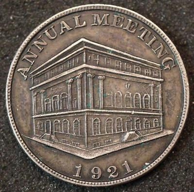 1921 CHESTER PA LODGE NO. 236 F & A M PENNY TOKEN COIN, 1ST ANNUAL MTG IN TEMPLE