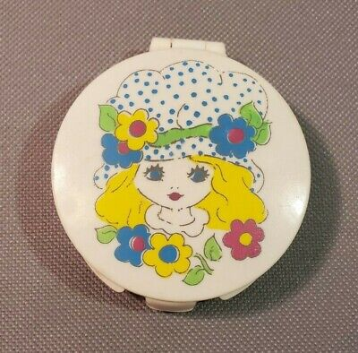 Vintage 70's Tinkerbell Pressed Powder Compact Tom Fields Ltd. Never Used FULL!