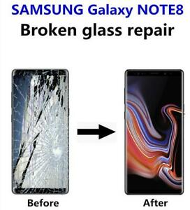Samsung Galaxy Note 8 cracked screen display glass LCD repair FAST **