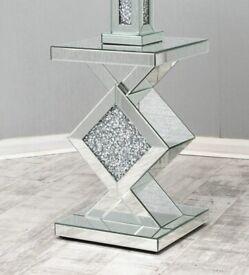 Rayyan Diamond Crush Side Table BRAND NEW