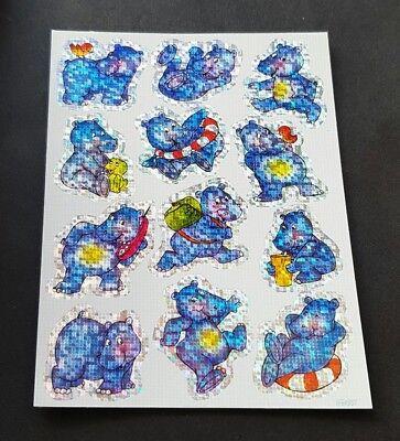 Z Design • Vintage Sticker 90er • ZDesign • Glitzer • Glitter • Nilpferde