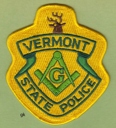 VERMONT STATE POLICE MASON MASONIC SHOULDER PATCH