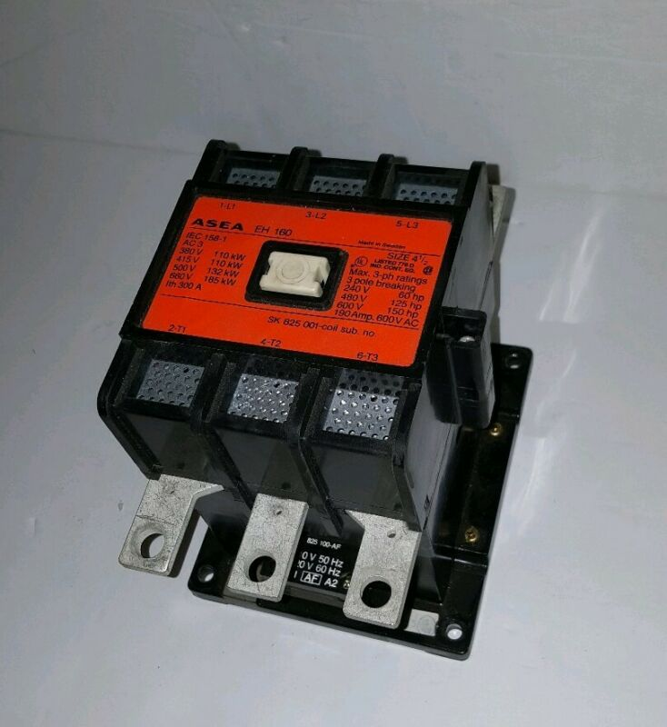 ASEA EH160 EIC156-1  Size 4-1/2 Contactor 190 Amp @600VAC Max Tested Good!