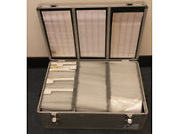 Aluminium Case for 510 x CDs, DVD, Blue Ray DJs or to Travel
