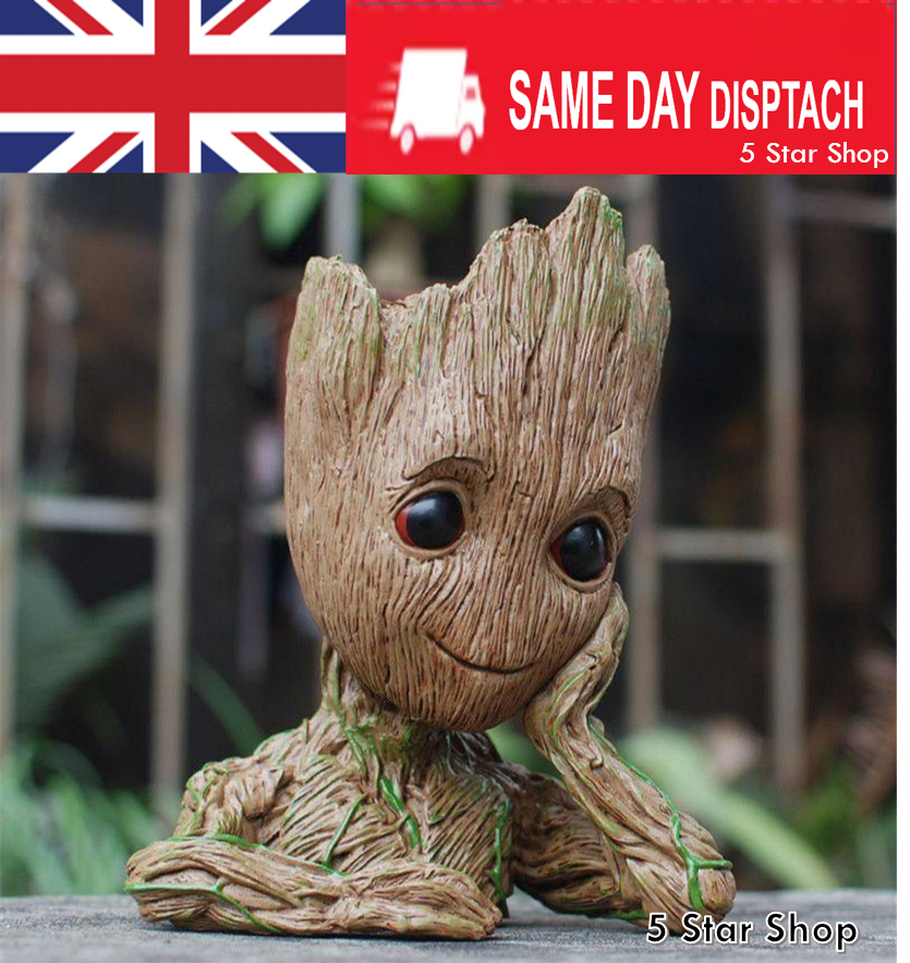Groot Guardians of The Galaxy Baby Figure Flowerpot Style Pen Pot UK SELLER 16CM