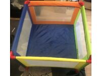 iSafe Travel Cot / Playpen Baby Toddler Excellent Condition with Mattress