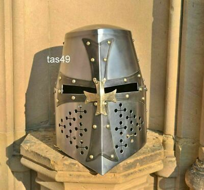 Knights Armor Costume (Medieval Knight Templar Helmet Crusader Costume Armor Helmet Collectible Gift)