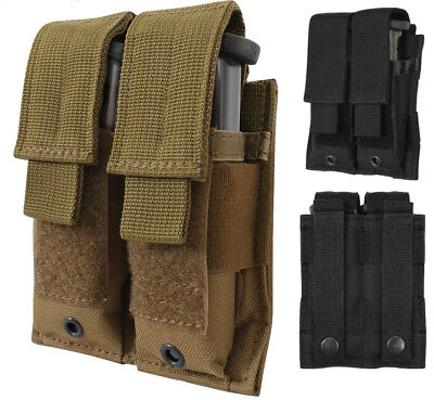 Military MOLLE Pouch Double Pistol Magazine Holder 51002 Rothco