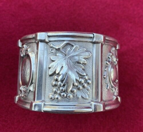 Vintage Six (6) - Panel Silver Plated Napkin Ring