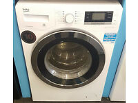l255 white & chrome beko 11kg 1400spin A+++ washing machine comes with warranty can be delivered