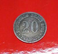 Germania Moneta Da 20 Pfennig1874 B -  - ebay.it