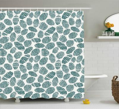 Pine Cone Shower Curtain (Pine Cone Pattern Shower Curtain Fabric Decor Set with Hooks 4)