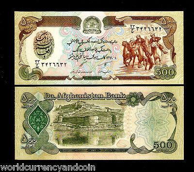 AFGHANISTAN 500 AFGHANIS P60 1979-1991 Full Brick BUNDLE HORSE UNC X 1000 NOTE