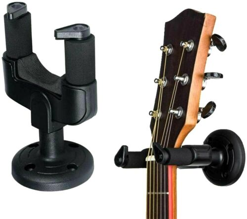 2PCS Wall Mounted Guitar Hanger Hook Support Holder Stand Round Base Wall Mount