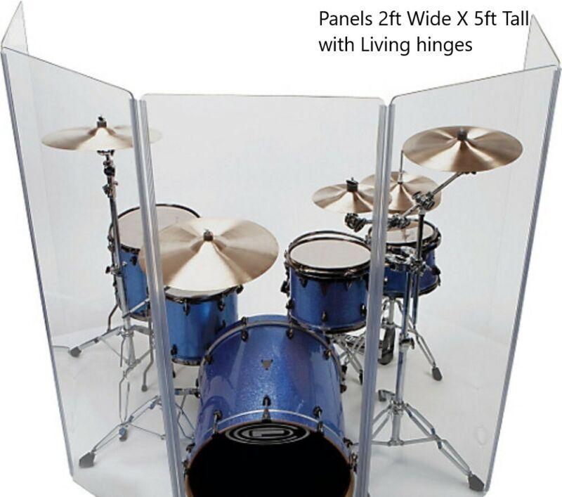 Drum Shield DS5 L 6 Section Drum Shield Acrylic Drum Panels Drums