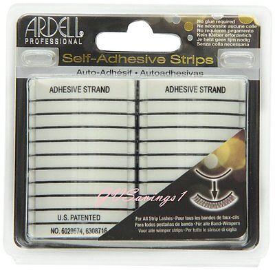 (20 STRIPS) Ardell SELF-ADHESIVE STRIPS False Eyelash Glue GUARANTEED AUTHENTIC