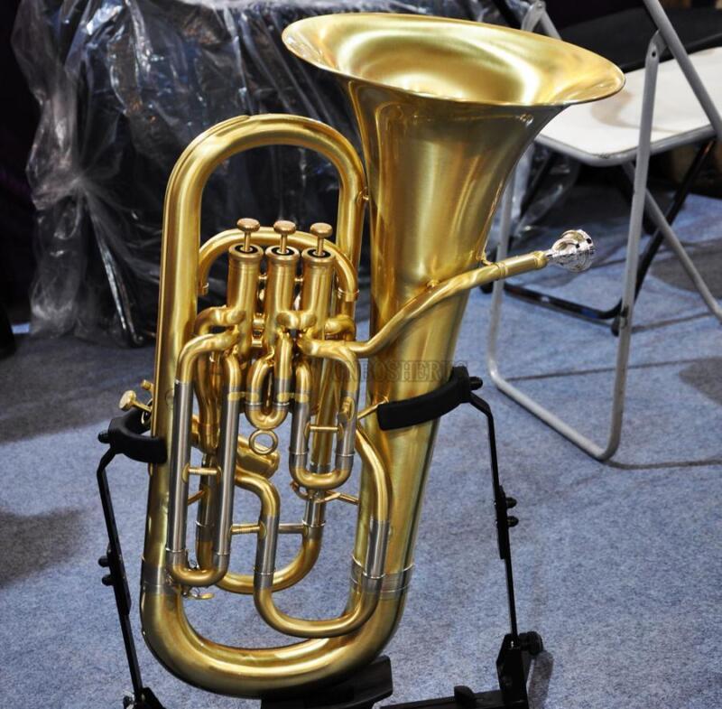 Professional Compensating System Euphonium Horn matt Brass Finish With Case