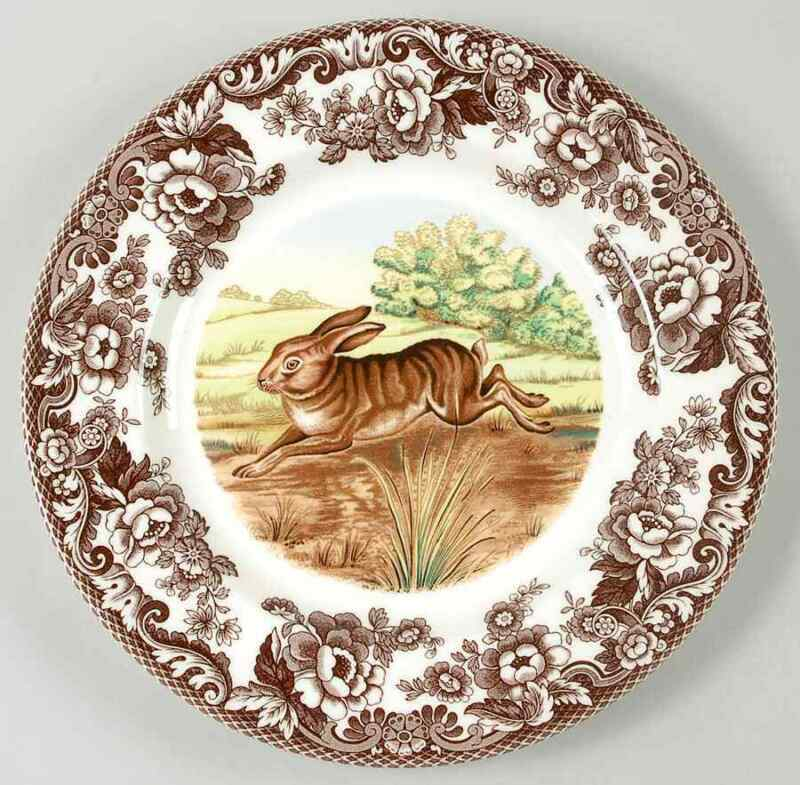 Spode Woodland Rabbit Dinner Plate 8821389