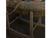 Free Moses basket & rocking stand