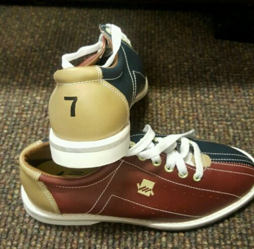 Mens Leather Via Rental Bowling Shoes Size 7.5 I Have Many Sizes Too.