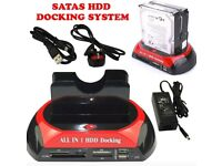 All in 1 Dual USB SATA IDE 3.5' 2.5' Hard Disk Drive Dock Station HDD Caddy Case