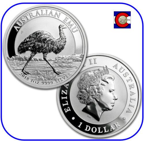 2018 Australia Emu 1 oz. 0.9999 Silver Coin - 1st coin in new Perth Mint series