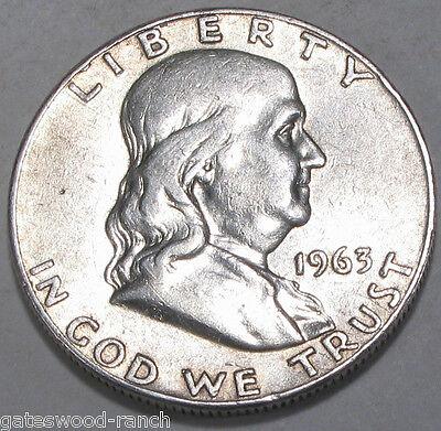 1963  D FRANKLIN SILVER HALF DOLLAR   NICE COIN IN GOOD CONDITION
