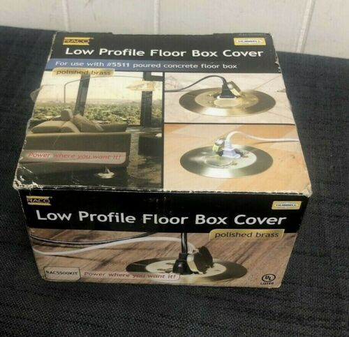 RACO Round Floor Box Cover Kit, Two Lift Lids For Use with 5511 Floor Box