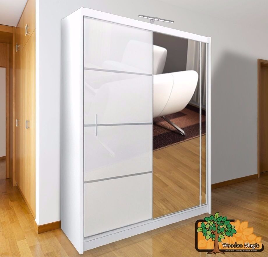 Vista white 150 sturdy free standing wooden sliding door for Sliding glass doors gumtree