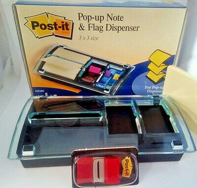 Post-it Pop-up Note Flag Dispenser 3 X 3 One Refill Included Ds100 Nos 2002