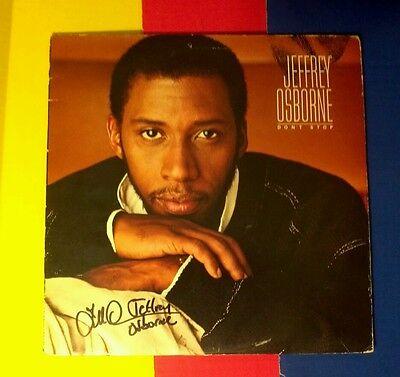 """Jeffrey Osborne"" signed album/""Don't Stop"" 1984"