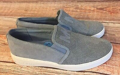 * Michael Kors Slip on Sneakers Women's Size 7 1/2 Suede Slate Blue EUC!