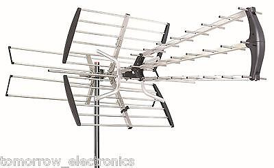 180 Mile Hdtv 1080P Outdoor Amplified Hd Tv Antenna Digital Uhf Vhf Fm Radio